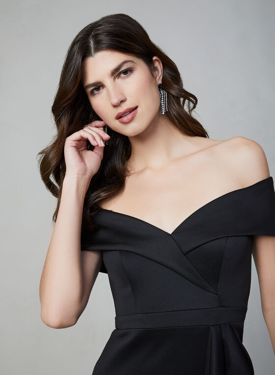 BA Nites - Off-the-Shoulder Dress, Black