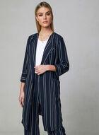 Stripe Print Duster Jacket, Blue