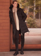 Sicily - Quilted Puffer Hooded Coat, Black