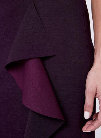 Ruffle Trim Pencil Skirt, , hi-res