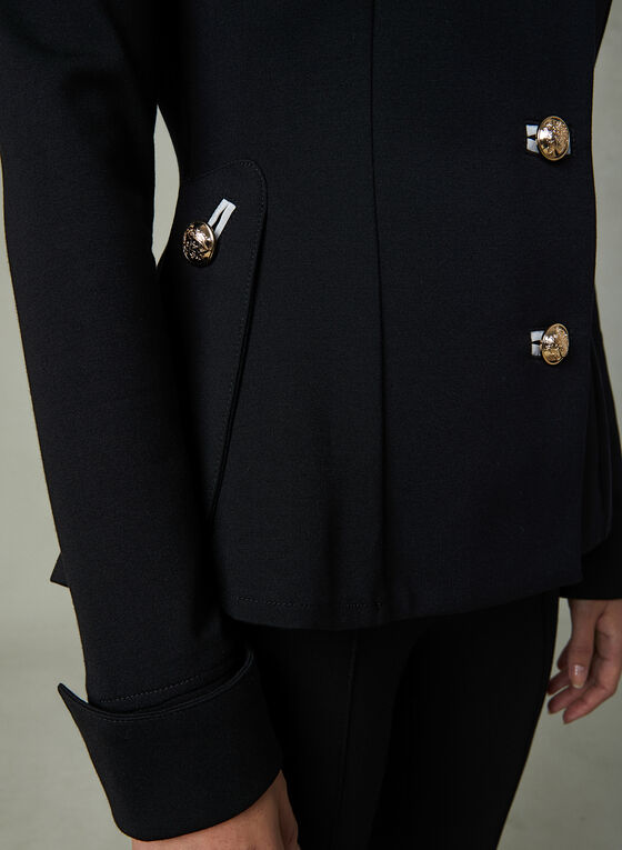 Joseph Ribkoff - Military Jacket, Black, hi-res