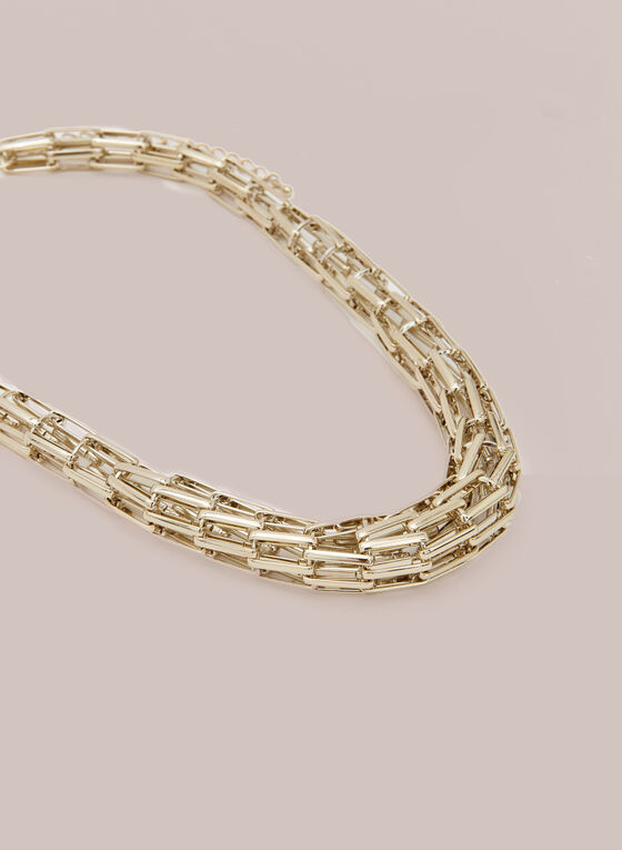 Mesh Chain Necklace, Gold