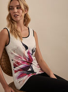 Frank Lyman - Floral Print Sleeveless Top, White