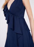 Clover and Sloane - Faux Wrap Crepe Dress , Blue, hi-res