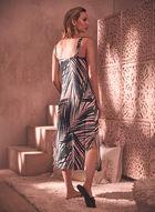 Palm Leaf Print Dress, Pink