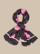 Polka Dot Lightweight Scarf, Pink