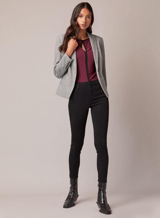 Sleeveless Contrast Top, Purple