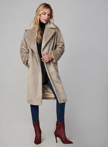 SOSKEN - Teddy Coat, Off White, hi-res,  SOSKEN, coat, teddy, long sleeves, fall 2019, winter 2019