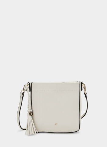 Square Crossbody Bag, Off White, hi-res,  crossbody, handbag, tassel, shoulder strap, spring 2019