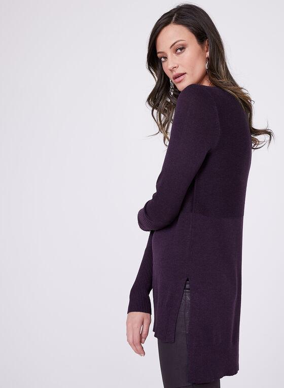 Pull manches longues en tricot, Violet, hi-res