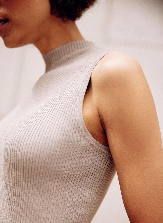 Sleeveless Knit Top, Beige