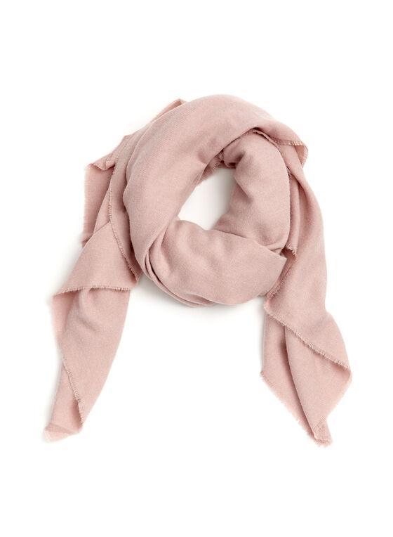 Foulard léger carré ultra doux, Rose, hi-res