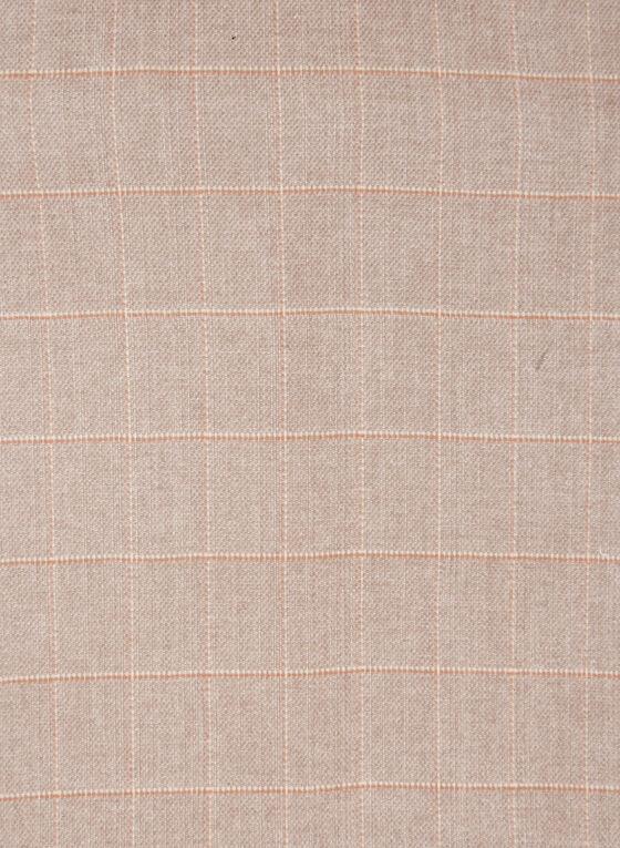 Plaid Print Pompom Detail Scarf, Brown