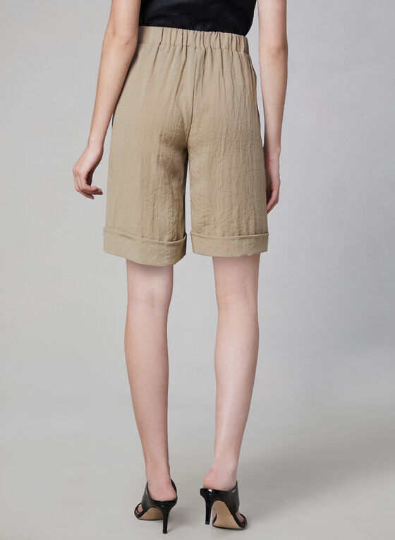 Button Front Shorts, Off White, hi-res