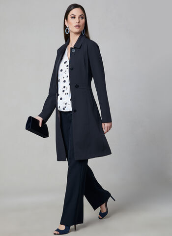 Novelti - Fit & Flare Coat, Blue, hi-res,  spring 2019, water resistant