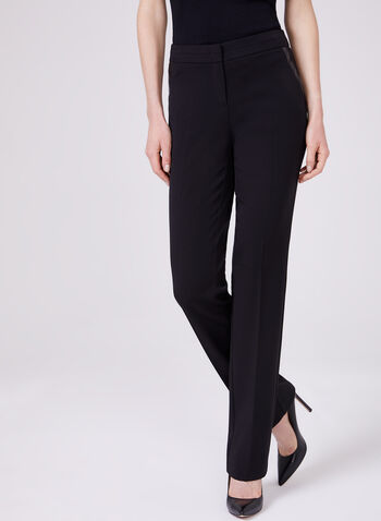 Lauren Straight Leg Pants, Black, hi-res