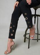 Joseph Ribkoff - Pantalon à jambe étroite et œillets, Noir, hi-res