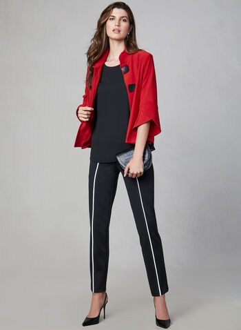 Joseph Ribkoff - Tulip Sleeve Jacket, Red, hi-res