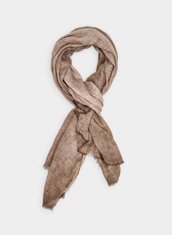 Foulard pashmina de couleur unie, Brun, hi-res