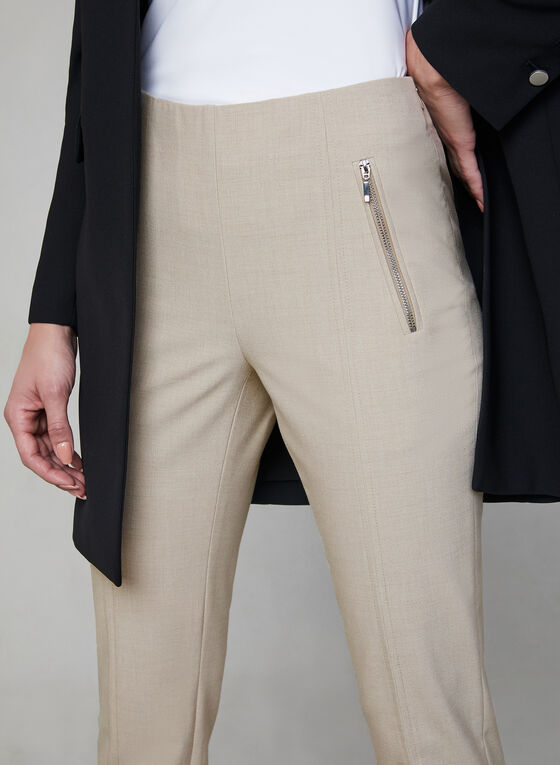 Pantalon Amber pull-on à jambe étroite , Blanc cassé, hi-res