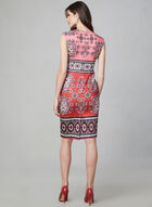 Vince Camuto - Paisley Print Dress, Red, hi-res