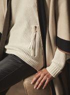Pull en tricot chenille à poches zippées, Blanc cassé