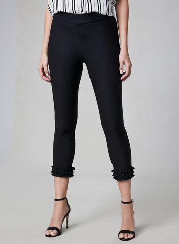Charlie B - Bengaline Pull-On Capri Pants, Black, hi-res