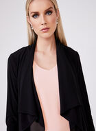 Open Front Jersey Cardigan, Black, hi-res