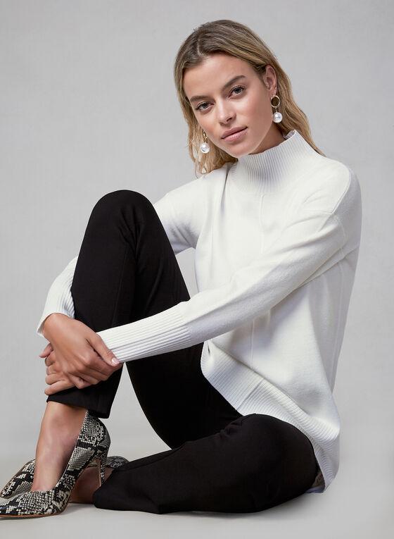 Turtleneck Knit Sweater, White