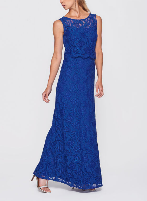 Popover Lace Dress, Blue, hi-res