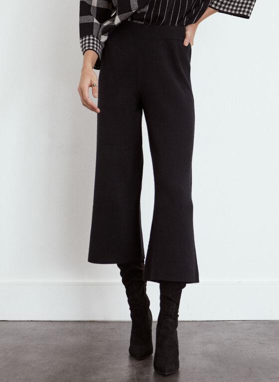 Pull-On Culotte Pants, Black
