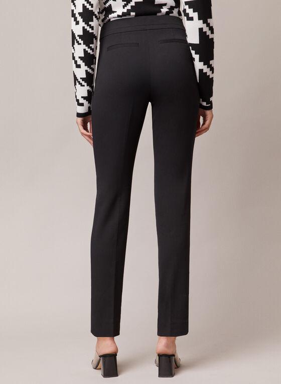 Pantalon Amber à ourlet fendu, Noir