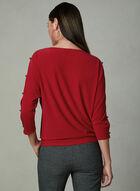 Split Dolman Sleeve Top, Red, hi-res