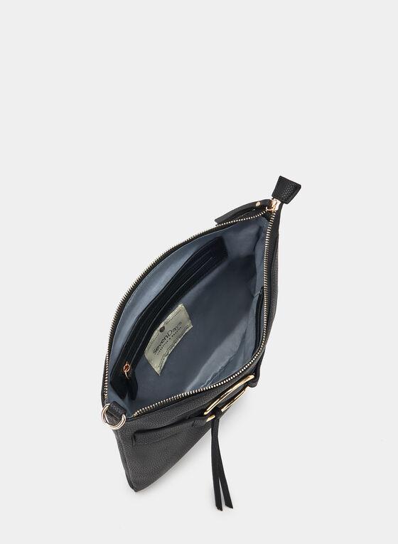 Pochette rectangulaire à anneau, Noir, hi-res