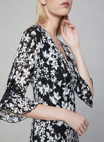 Karl Lagerfeld Paris - Robe à dentelle florale, Blanc, hi-res