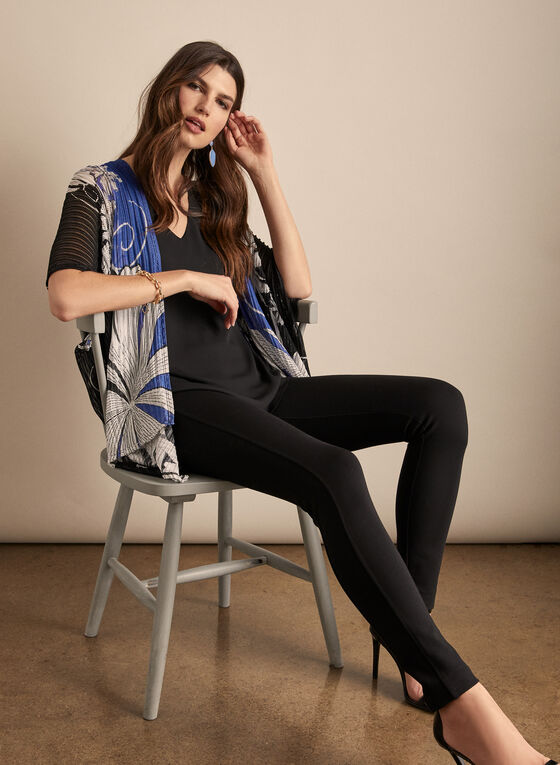 Frank Lyman - Kimono Style Open Front Top, Black