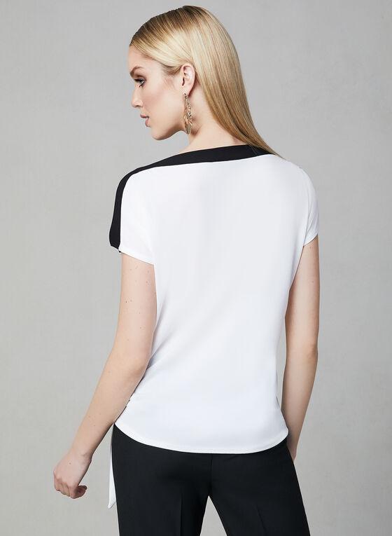 Haut contrastant à détail nœud, Blanc cassé