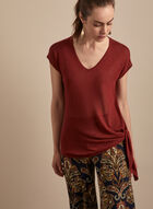 Cap Sleeve Lightweight Sweater, Red