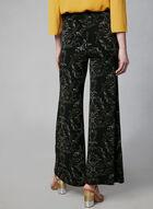 Pantalon pull-on motif cachemire, Noir, hi-res