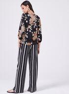 Floral Jersey Top, Black, hi-res