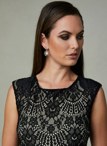 Frank Lyman - Tiered Lace Dress, Black, hi-res