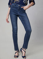 Stitch Detail Slim Leg Jeans, Blue