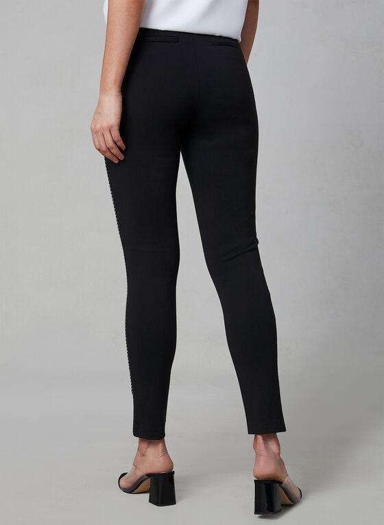 Pantalon pull-on à détails cloutés, Noir, hi-res