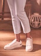 Jeans à jambe droite brodé, Blanc