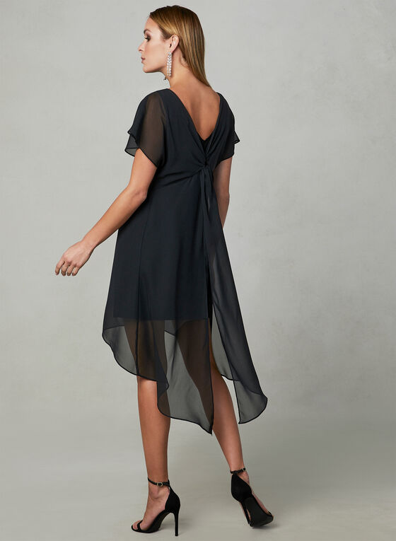 Adrianna Papell - Capelet Back Dress, Black, hi-res