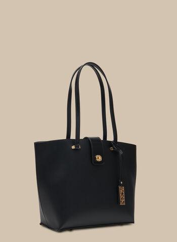 Lot de 3 sacs à main en similicuir, Noir,  sac à main, fourre-tout, pochette, similicuir, métal, printemps été 2020
