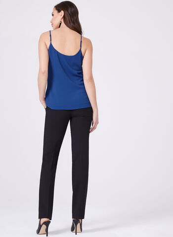 Sleeveless Crepe Camisole, Blue, hi-res