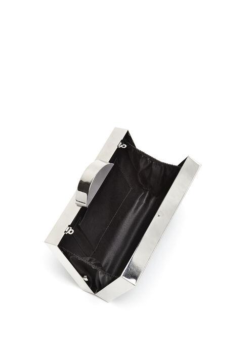 Pochette rigide en sequin, Noir, hi-res