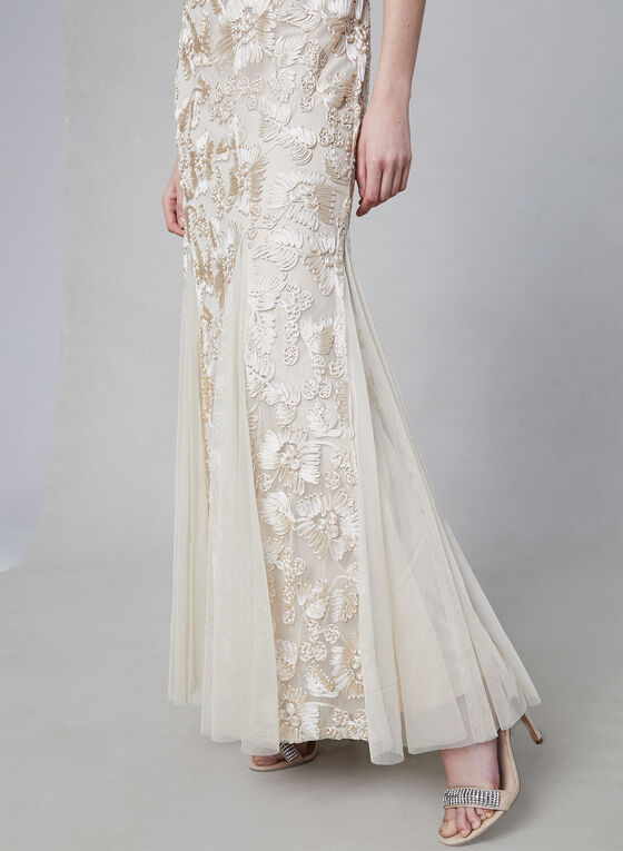 Alex Evenings - Embroidered Mermaid Gown, Off White