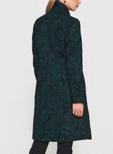Stand Collar Tapestry Coat, Green, hi-res